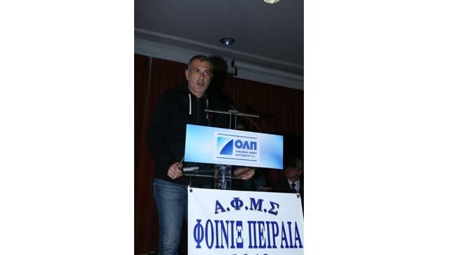 Ο Δήμαρχος Πειραιά Γιάννης Μώραλης στην εκδήλωση κοπή της πρωτοχρονιάτικης πίτας του Αθλητικού Συλλόγου «ΦΟΙΝΙΚΑΣ ΠΕΙΡΑΙΑ»