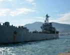 Ατύχημα για το αρματαγωγό «Λέσβος» στο ναύσταθμο της Σαλαμίνας