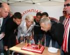 Ο Δήμαρχος Πειραιά και Πρόεδρος της ΠΑΕ Ολυμπιακός Γ.Μώραλης για τον εορτασμό των 93 χρόνων ίδρυσης του Ολυμπιακού