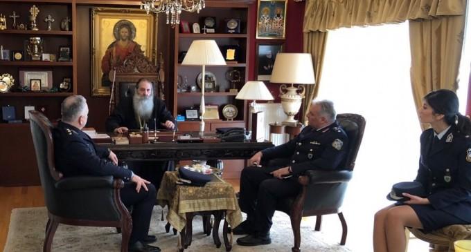 Συνάντηση Σεραφείμ με τον νέο Γενικό Αστυνομικό Διευθυντή Πειραιά