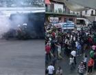 Μυτιλήνη: Ένταση στην πορεία – Στους δρόμους όλο το νησί, υπό αστυνομικό κλοιό η ομιλία Τσίπρα