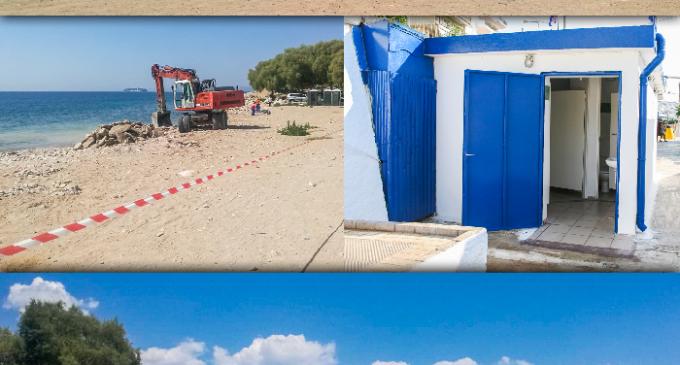 Νέες Υποδομές και εργασίες καθαρισμού στην Παραλία Φρεαττύδας