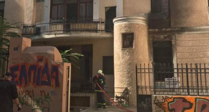 Μεγάλη φωτιά σε κτίριο στο κέντρο της Αθήνας -Απεγκλώβισαν 7 άτομα