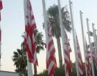 Μεσίστιες οι σημαίες στα γραφεία της ΠΑΕ Ολυμπιακός -Για τον θάνατο του Σωκράτη Κόκκαλη τζούνιορ