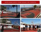 Επίσκεψη του Δήμαρχου Γ. Μώραλη και του Αντιπεριφερειάρχη Πειραιά Γ. Γαβρίλη στο πλήρως ανακαινισμένο γήπεδο μπάσκετ του ΤΟΥ Α.Ο.Φ. «ΠΟΡΦΥΡΑΣ»