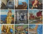 """Ζωντανεύει """"Η Ναυμαχία της Σαλαμίνας"""" μέσα από πίνακες"""