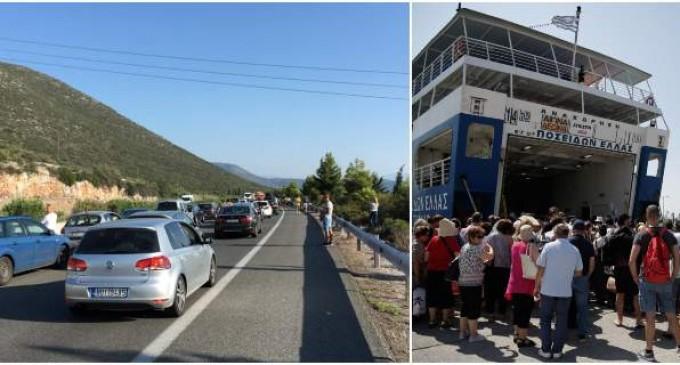 Επιστροφή-Γολγοθάς: Ουρές χιλιομέτρων στην Εθνική -Αδιαχώρητο στον Πειραιά