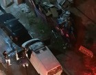 ΦΩΤΟ: Το φλεγόμενο βαν των εκτελεστών του Πειραιά – «Άκουσα ένα μπαμ», λέει μάρτυρας