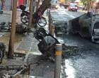 Ρηγμαμένη πόλη τα Εξάρχεια από τα επεισόδια μετά την πορεία για το Γρηγορόπουλο