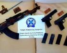 Με καλάσνικοφ, πιστόλια, σφαίρες και ναρκωτικά πιάστηκε νεαρό ζευγάρι στο Κορωπί