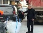 Αυτοψία Δημάρχου σε έργα ανάπλασης πεζοδρομίων