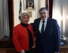 Συνάντηση της Γεωργίας Γεννιά  με τον Πρόεδρο του Βιομηχανικού και Εμπορικού Επιμελητηρίου