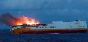 Aπίστευτο! Βυθίστηκε πλοίο με 2.000 αυτοκίνητα της Audi και της Porsche