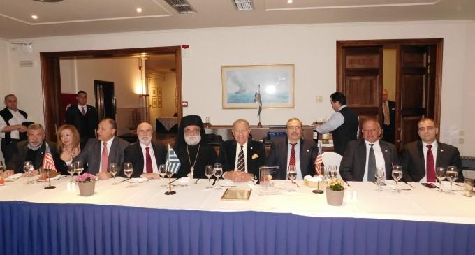 Συνεστίαση Συνδέσμου Ελληνοαμερικάνικης Φιλίας με τιμητική διάκριση για τον Chris Spirou