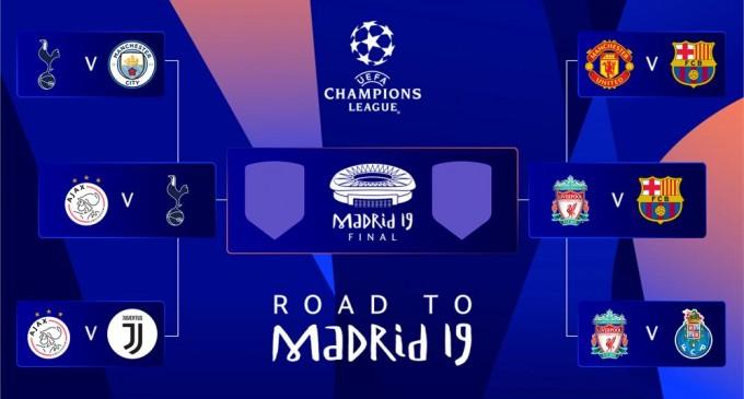 Champions League: Μπαρτσελόνα-Λίβερπουλ και Τότεναμ-Αγιαξ στα ημιτελικά