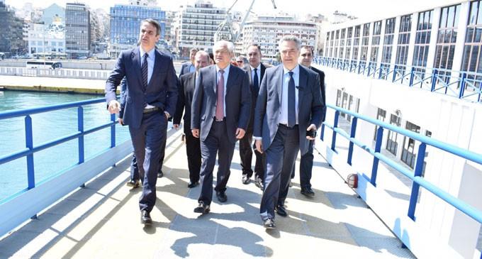 Επίσκεψη του κ. Κυριάκου Μητσοτάκη στα κεντρικά γραφεία του ΟΛΠ