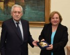 Συνάντηση του ΥΝΑΝΠ Φώτη Κουβέλη με την πρέσβη της Δημοκρατίας της Κούβας Zelmys Maria DominguezCortina