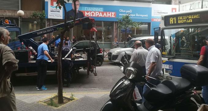 Για ακόμα μια φορά το γνωστο πρόβλημα στην Τσαμαδού  – Δεν μπορούσαν να στρίψουν λεωφορεία (αποκλειστικές φωτο)