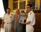 Επίσκεψη του κυβενήτη του Ιαπωνικού εκπαιδευτικού πλοίου «KOJIMA» στον Δήμο Πειραιά