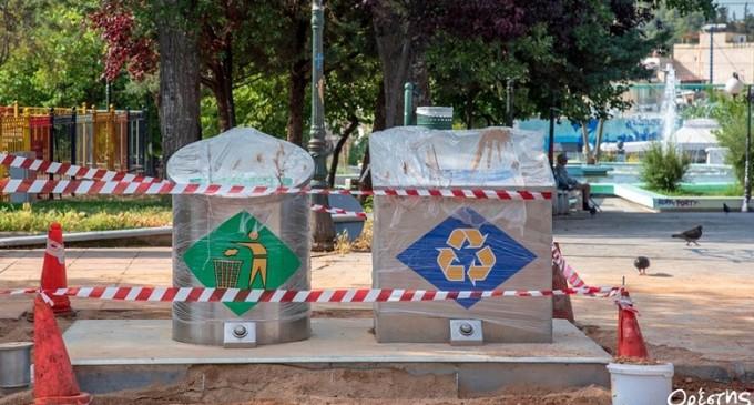 Λειτουργία υπόγειων κάδων απορριμμάτων σε Νίκαια και Ρέντη