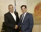 Συνάντηση του νέου Περιφερειάρχη Αττικής Γιώργου  Πατούλη με το νέο υπουργό Ανάπτυξης και Επενδύσεων Άδωνι Γεωργιάδη