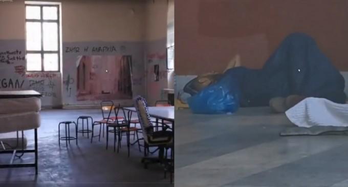 Εικόνες ντροπής στο Πολυτεχνείο: Καταστροφές από αντιεξουσιαστές στο κτίριο Γκίνη