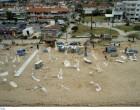 Σωζόπολη: Εικόνες αποκάλυψης από ψηλά! Βομβαρδισμένο τοπίο!