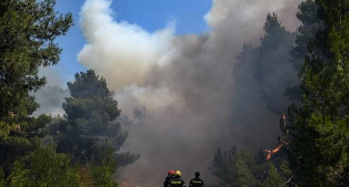 Φωτιά στην Εύβοια: Ζητήθηκε βοήθεια από την Ευρώπη για εναέρια μέσα