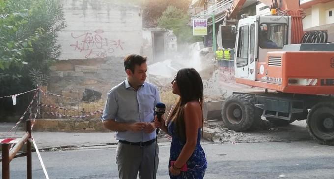 Ξεκίνησαν οι εργασίες κατεδάφισης επικίνδυνων κτιρίων στην Αθήνα