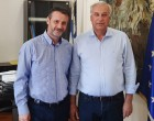 Συνάντηση με τον Γενικό Γραμματέα Υπουργείου Εσωτερικών Μιχάλη Σταυριανουδάκη του Δημάρχου Σαλαμίνας Γιώργου Παναγόπουλου