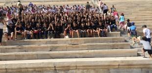 Mαθητές της Β Γυμνασίου της Ελληνογαλλικής Σχολής  Πειραιά Jeanne d' Arc στην ΑΦΗ ΟΛΥΜΠΙΑΚΗΣ ΦΛΟΓΑΣ