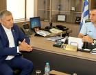 Συνάντηση του Περιφερειάρχη Αττικής με τον Γενικό Αστυνομικό Διευθυντή Αττικης Γ. Ψωμά στη Γ.Α.Δ.Α