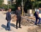 Αυτοψία Δημάρχου στις εργασίες ανάπλασης της Λεωφόρου Ειρήνης στο Νέο Φάληρο