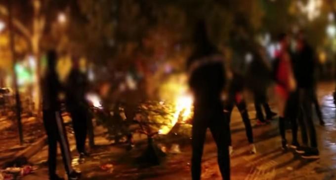 Έτσι έκαψαν το δέντρο στα Εξάρχεια! Μπακογιάννης: Το δέντρο θα ξαναστηθεί