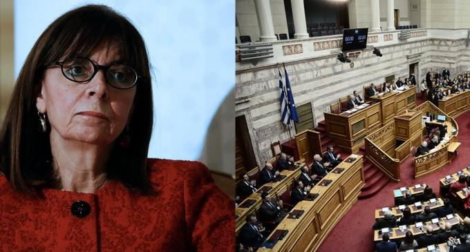 Η Αικατερίνη Σακελλαροπούλου νέα Πρόεδρος της Δημοκρατίας με 261 ψήφους!