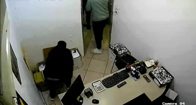 Διάρρηξη σε εταιρεία στο Κερατσίνι (βίντεο)