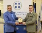 Συνάντηση του Περιφερειάρχη Αττικής Γ. Πατούλη με τον Διοικητή της Ασφάλειας Αττικής, υποστράτηγο Π. Τζαφέρη