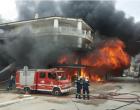 Μεγάλη φωτιά σε σούπερ μάρκετ στην Ηλεία – Ολοσχερής καταστροφή (φωτο)