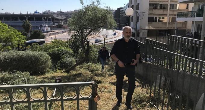 Συντονισμένη παρέμβαση στο πάρκο της οδού Ευκλείας από τον Δήμο Πειραιά