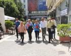 Περιοδεία Γεωργίας Γεννιά στο εμπορικό κέντρο του Πειραιά