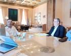 Συνάντηση του Ανδρέα Ευθυμίου με τον Κώστα Μπακογιάννη για την ανάπλαση των Σφαγείων και τα έργα της ΟΧΕ στην Κοινότητα Ταύρου