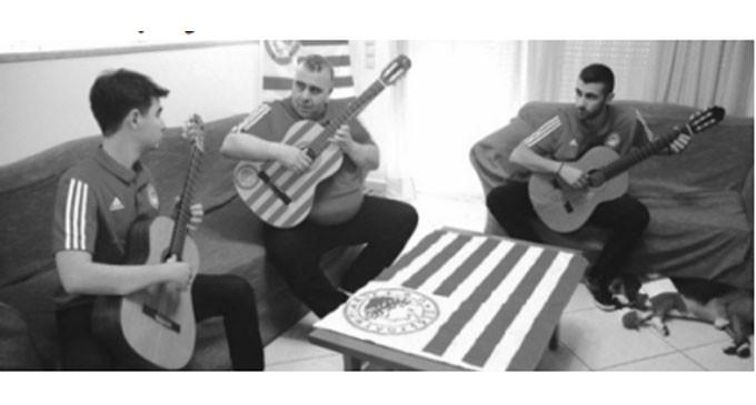 Ο ύμνος του Ολυμπιακού για κλασικές κιθάρες από το PIRAEUS GUITAR TRIO