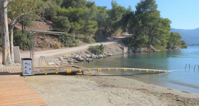 Σε λειτουργία δυο υποδομές πρόσβασης ΑΜΕΑ στην θάλασσα του Πόρου