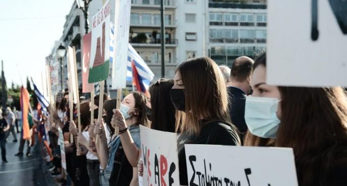Συγκέντρωση διαμαρτυρίας από Αρμένιους στο Σύνταγμα
