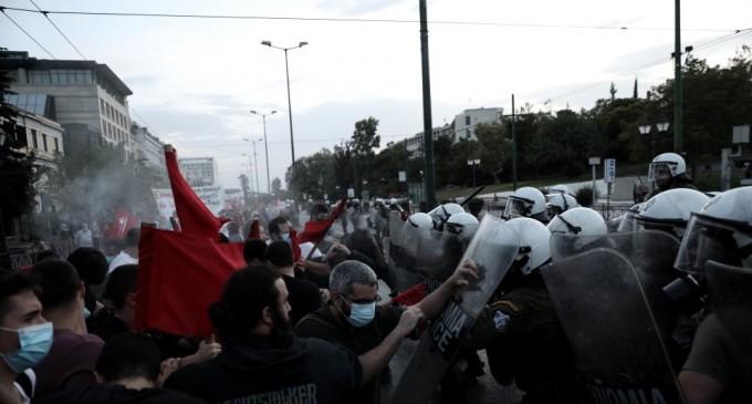 Επεισόδια και χημικά κοντά στην πρεσβεία των ΗΠΑ στην Αθήνα