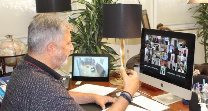 Τηλεδιάσκεψη Περιφερειάρχη Αττικής Γ. Πατούλη με Δημάρχους της Αττικής