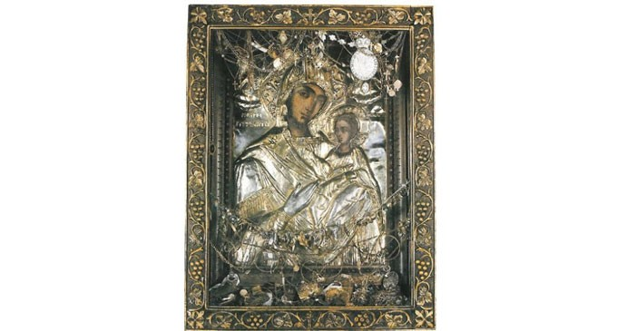 Υποδοχή Ιεράς θαυματουργού εικόνας της Παναγίας της Τρυπητής