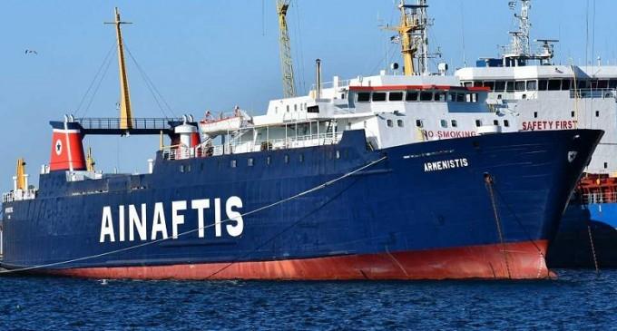 Πρόσκρουση φορτηγού πλοίου στο λιμάνι της Μυτιλήνης