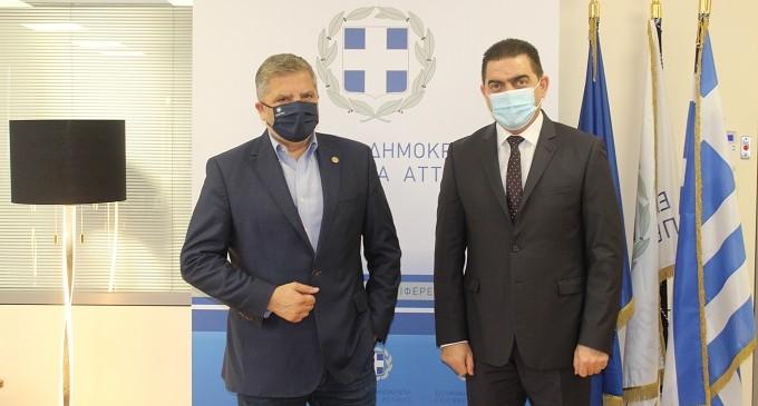Στην Περιφέρεια Αττικής ο υπαρχηγός της Ελληνικής Αστυνομίας Αντιστράτηγος Α. Δασκαλάκης-Συνάντηση με τον Περιφερειάρχη Γ. Πατούλη