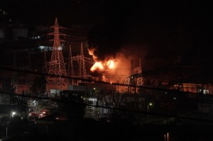 Black Out; DEH; DEI; explosion; fire; High Voltage Center; Public Power Company; smoke; ΑΔΜΗΕ; Ασπρόπυργος; ΔΕΗ; Εργοστάσιο; ΚΥΤ; Πυρκαγιά; έκρηξη; καπνός; φωτιά; φωτιές;